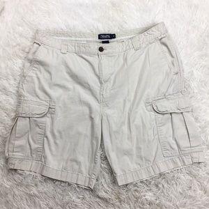 Chaps Cream Color Men's Cargo Shorts Size 40 Waist